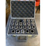 Quantity of Approx 22 Various Machine Colletts in Carry Case