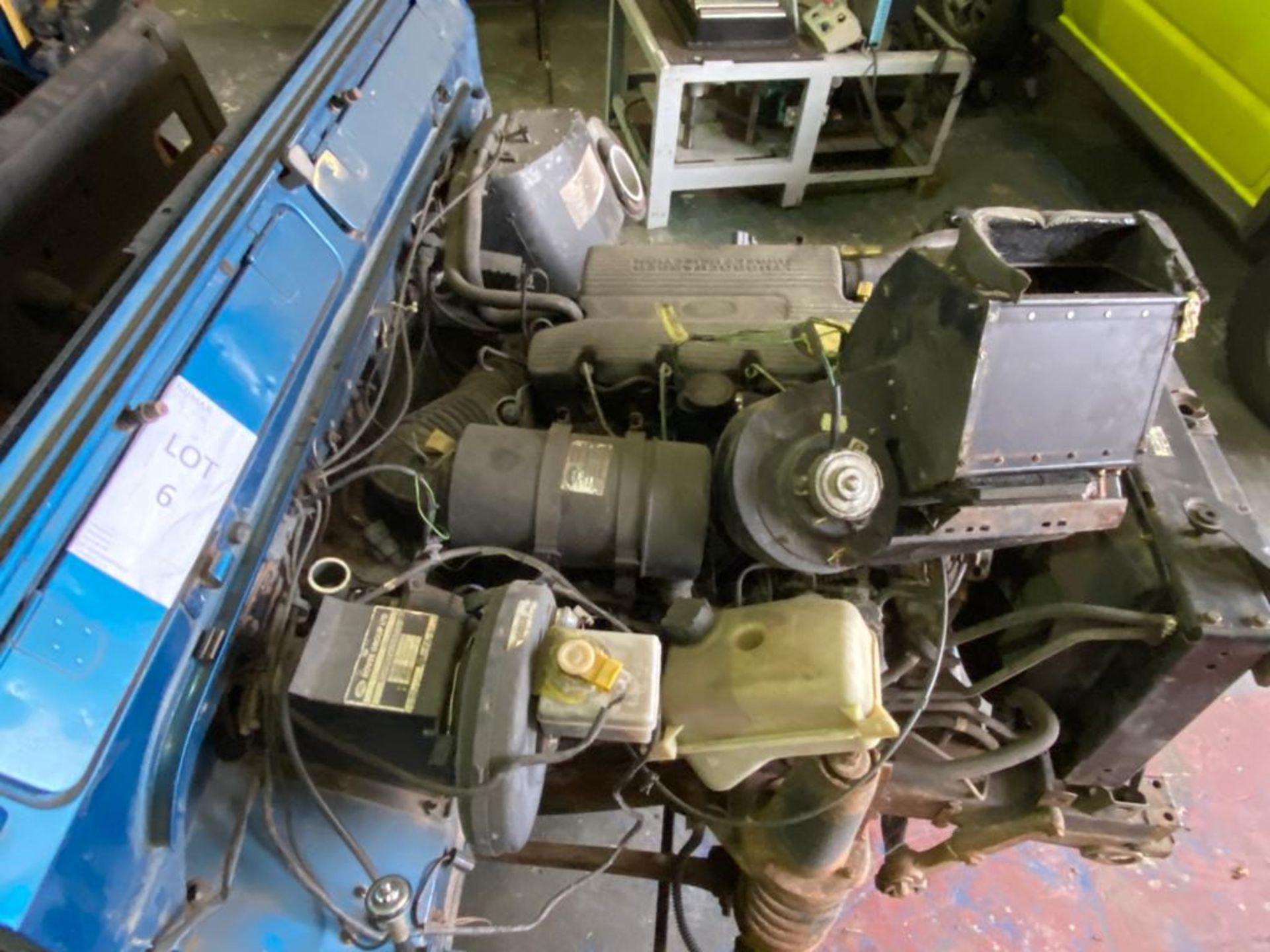 Land Rover 110 County, 300 TDI Engine Appears Mostly Complete - No Bumper, Bonnet, Glass etc As - Image 16 of 26
