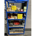 Blue Shelf Unit & Contents as shown to include Nuts & Bolts