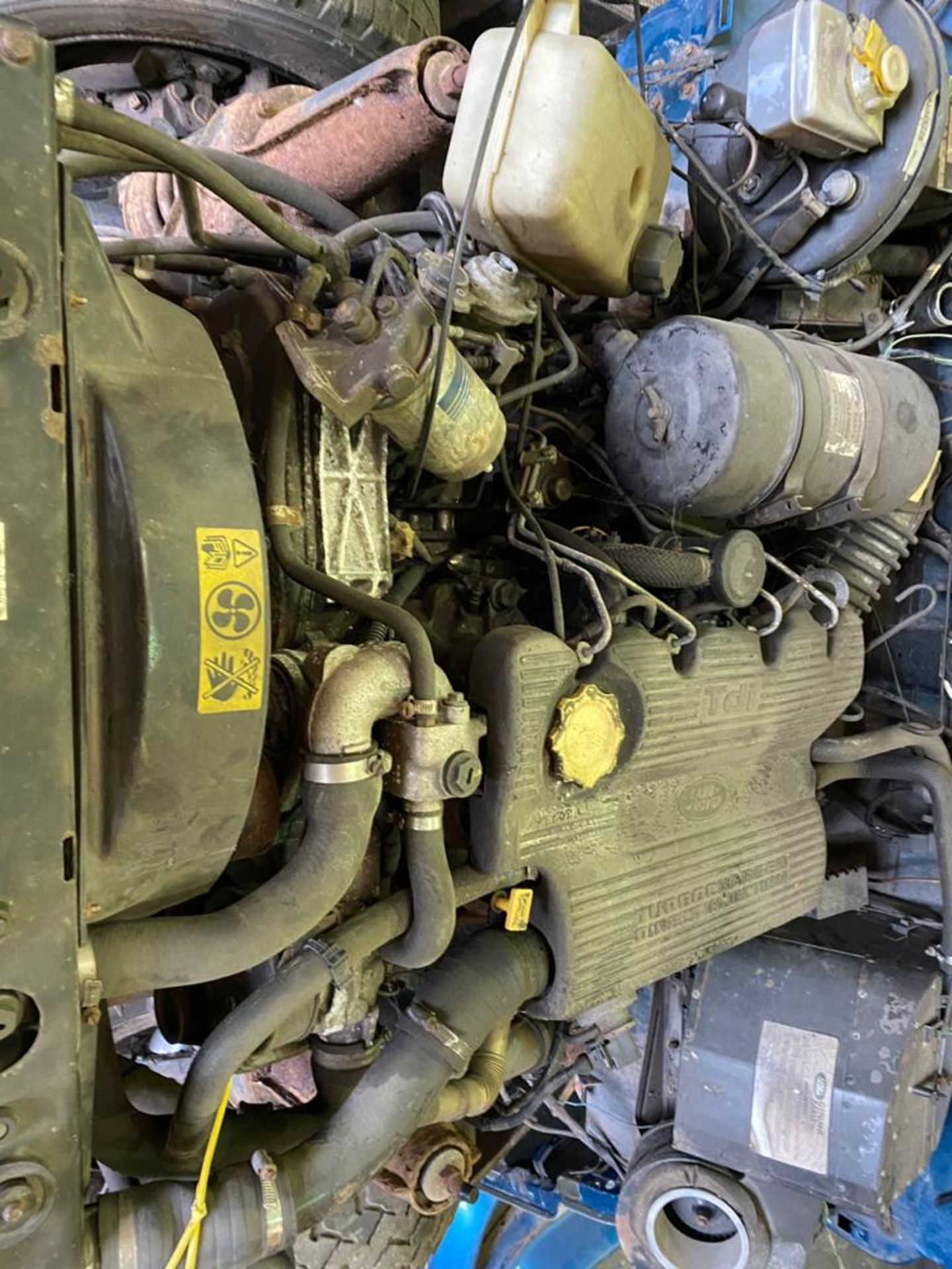 Land Rover 110 County, 300 TDI Engine Appears Mostly Complete - No Bumper, Bonnet, Glass etc As - Image 21 of 26
