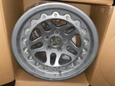 4: Hutchison Rock Monster Beadlock Wheels Part No. Wo - 0594 with Silver Topcoat with split rim whe