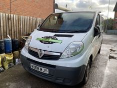Vauxhall Vivaro 2700CDTI, 1,995cc Diesel, 6 Speed Manual SWB Panel Van, Registration No. VU08