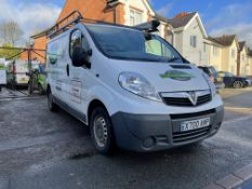 Vauxhall Vivaro 2700CDTI 89, 1,995cc Diesel, 6 Speed Manual SWB Panel Van, Registration No. X700