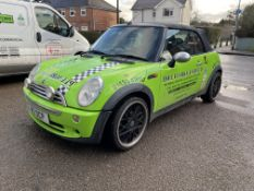 Mini Cooper 1,598cc Petrol, 5 Speed Manual Convertible, Registration No. M2DCP, First Plate GF06 OYH