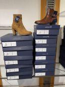 Caprice 5 Pairs: Cognac/Ocean Ankle Boots 9-25331-25 387. Sizes 5 - 6.5 (RRP £89.99) Caprice 5