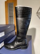 Caprice 10 Pairs: Black Comb Boots 9-25535-25 019. Sizes 3.5 - 7 (RRP £120)