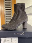Caprice 6 Pairs: DK Grey Stretch Ankle Boots 9-25300-25 250. Sizes 4 - 7.5 (RRP £59)