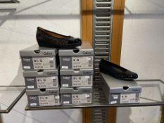 Gabor 1 Pair: Alligatorlack Schwarz Shoe 32.020.87. Size 5 (RRP £75) Gabor 6 Pairs: Luchs HT/Lack HT