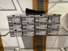Gabor 4 Pairs: Samtchevr/Leo Mini Schwarz/Anthrazit Shoe 52.626.67. Sizes 5, 5.5, 6.5 & 8 (RRP £