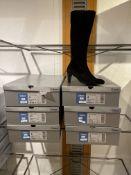 Gabor 6 Pairs: Samtchevreau (Micro) Schwarz Schaftweite S Boots 55.858.17. Sizes 4 - 6 (RRP £179)