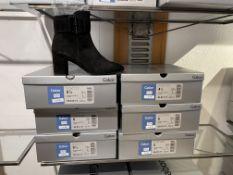 Gabor 6 Pairs: Samtchevreau (Micro) Schwarz Boots 55.613.17. Sizes 4.5 - 6.5 (RRP £125)