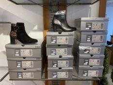 Gabor 3 Pairs: Samtchevreau/Luchs Schw./Natur (Micro) Boots 52.934.35. Sizes 5 & 6 (RRP £125)