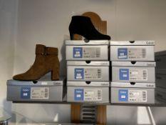 Gabor 1 Pair: Samtchevreau (Micro) New Whiskey Boots. 55.613.14. Sizes 7 - (RRP £125) Gabor 6 Pairs: