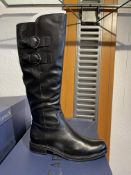 Caprice 7 Pairs: Black Nappa Boots 9-25530-25 022. Sizes 3.5- 7.5 (RRP £145)