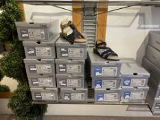 Gabor 5 Pairs: Mississippi/Samtch Bluette Polsterbrandsohle Sandals 44.551.36. Sizes 3 - 7 (RRP £75)