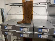 Gabor 4 Pairs: Dreamvelour (Mel) Whiskey Schaftweite M-Vario Boots. 54.679.18. Sizes 6, 6.5 &8 (