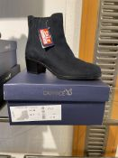 Caprice 1 Pair: Ocean Suede Ankle Boots 9-25351-25 857. Size 5 (RRP £75) Caprice 2 Pairs: Black Comb