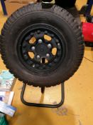 Wheel Display Stand Fitted with BF Goodridge 265 7516 & Hutchinson Bead Blocker Alloy
