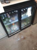 Blizzard Under Counter 2 glass door bottle display fridge