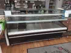 Mafirol Static Serve Over - Refrigerated Display Counter Model No 9254003 Serial No 16001043