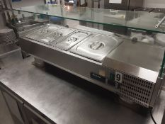 Blizzard TOP1200CR Refrigerated Preparation Top serial No 3AA3AR17223100017 Manufactured 08/2017