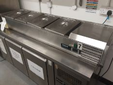 Blizzard TOP1500CR Refrigerated Topping Unit Serial No 3AA7PTLA21200R1718440005 Manufactured 08/