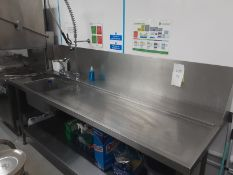 Right Hand Entry Table With Sink For Classeq Passthrough Dishwashers