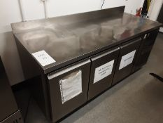 Blizzard HBC3 417 Ltr 3 Door Refrigerated Prep Counter With Upstand Serial Number 1603018GN32TO28