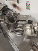 Assorted Bain Marie Pots and Lids