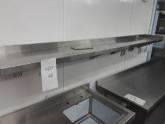 Stainless Steel Wall Shelves 240cm x 30cm