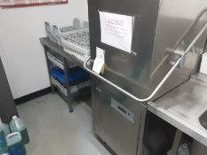 Classeq P500AWSD 500mm 18 Plate WRAS Approved Everyday Use Passthrough Dishwasher With Added