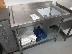 Vogue Single Drainer Sink Unit 700cm x 60cm x 90cm