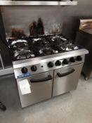 Blueseal 6 ring gas hob and oven Model No G750-6Blue Seal SR Series G750-6 - 6 Burner Range Static
