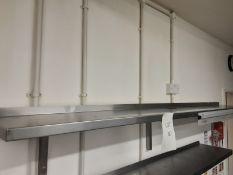 3x Stainless Steel Wall Shelvles No. 1 - 240cm x 30cm No. 2 - 180cm x 30cm No. 3 - 95cm x 30cm