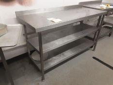 Francis stainless Steel Prep Table W 150cm D 60cm H90cm