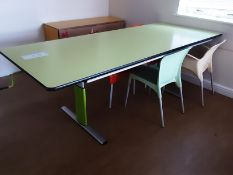 Height Adjustable Large Table (Green) with 4 Chairs