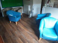 3: Blue Tub Chairs 3: Cream Tub Chairs