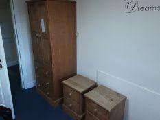 6: Wooden 2 Door Wardrobes 7: Wooden 2 Drawer Side Tables