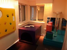 Contents of Sensory Room To Include SpaceKraft Light & Sound Therapy Station with Cushions, Lights &