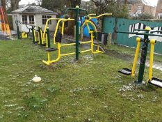 4: Outdoor Fresh Air Fitness Equipment to include swings, bike & chest pull (see Pictures) (Needs
