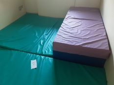 3: Green Large Waterproof Soft Play Mattresses 2: Arjohuntleigh Mattresses (Blue&Pink)