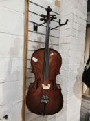 1/4 Cello Outfit With Case & Bow