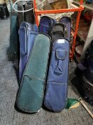 Various Used Violins With Cases (6)