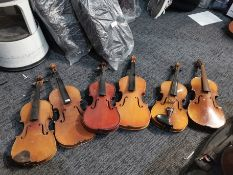 6: Various Violin's Sold for Spares/ Parts