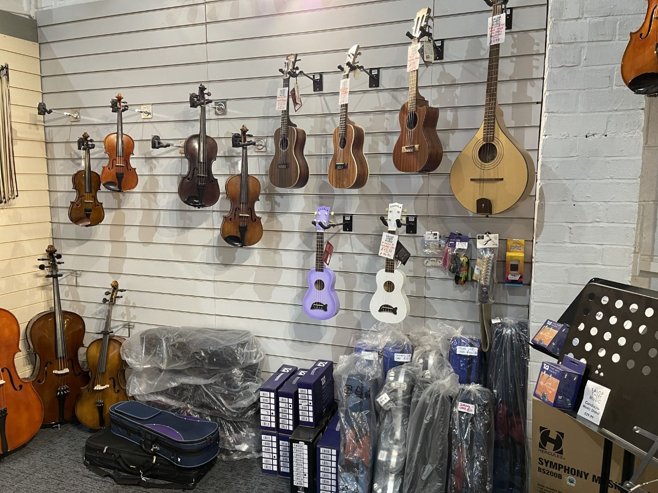 Salop Sheet Music In Proposed Liquidation - Large Selection of String Instruments, Music Books, Instrument Accessories and Shop Fittings