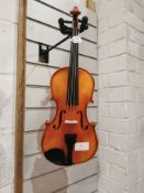 1/2 Violin Outfit with Hidersine Case & Bow