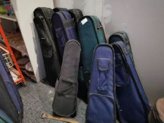Various Used Violins With Cases (Approxmatley 10)