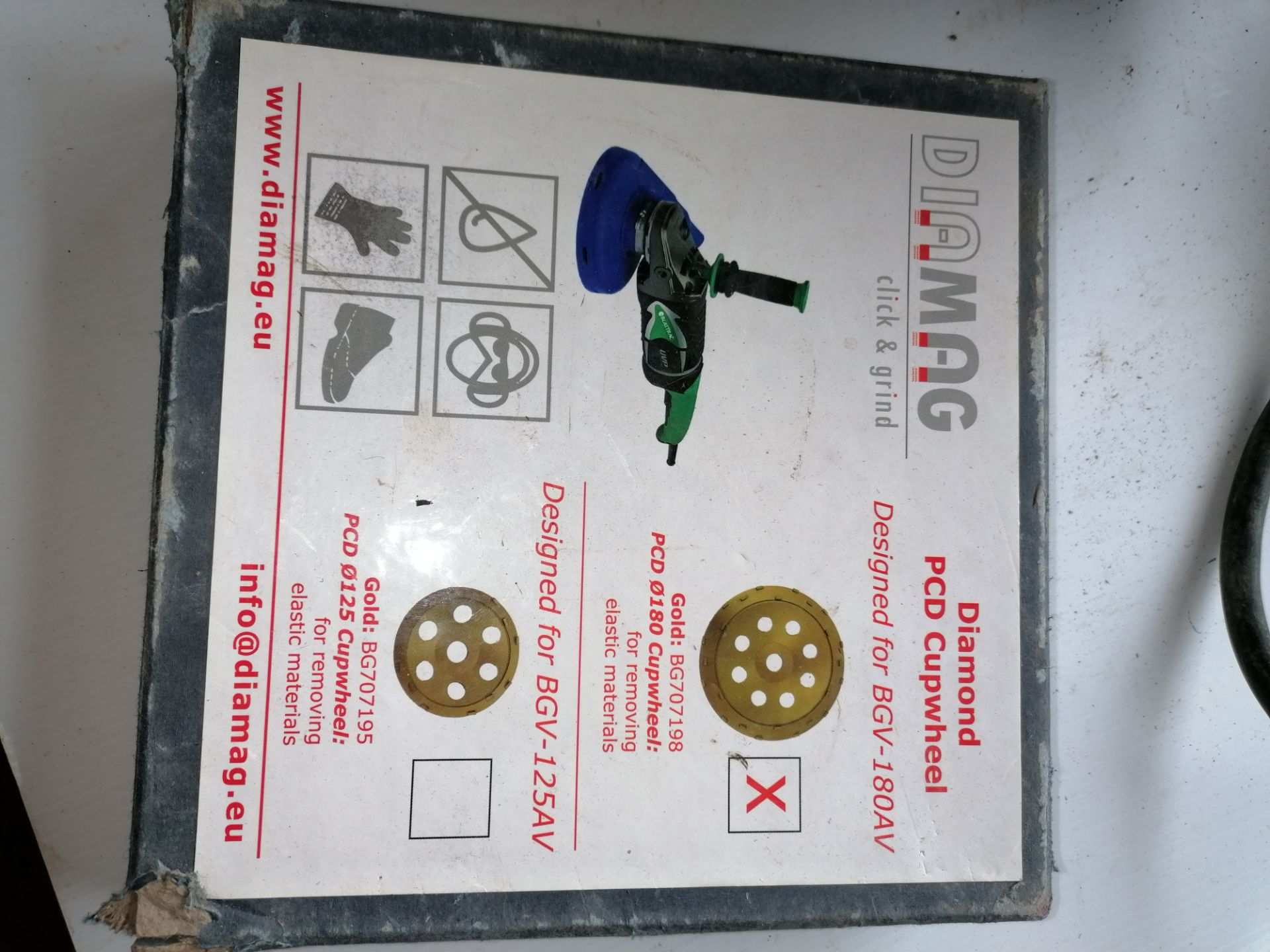 Hikoki G23SCB Grinder with Blades & Extractor Attachment (to attach to Lot 27) - Image 8 of 9