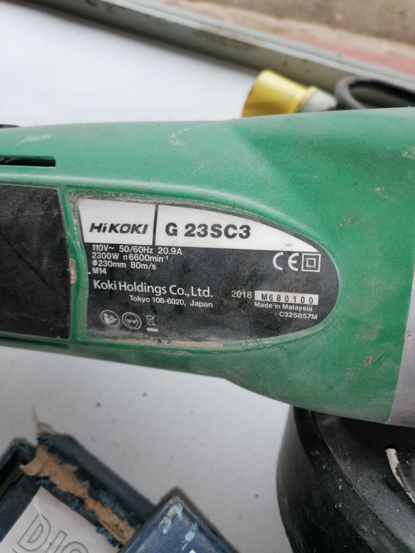 Hikoki G23SCB Grinder with Blades & Extractor Attachment (to attach to Lot 27) - Image 9 of 9
