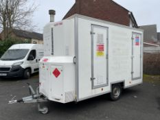 SMH Mobile De-Contamination Unit Comprising Dirty End, Twin Shower Enclosure, Clean End, Fitted with